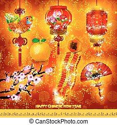 Happy Chinese New Year Decoration Set