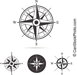 Compass Rose Vector Collection - Collection of compass rose...