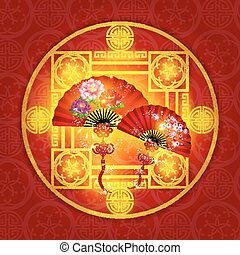 Happy Chinese New Year Decoration Vector Design
