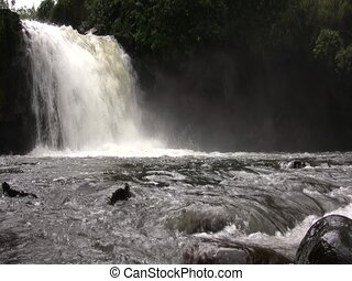 Andean waterfall - Rio Pita, Ecuador, in flood