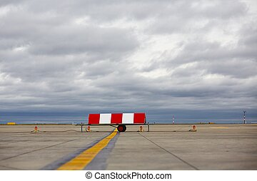 Airport - Airfield - marking on taxiway is heading to runway