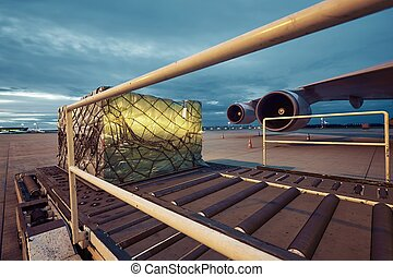 Cargo airplane - Loading of cargo to the freight aircraft