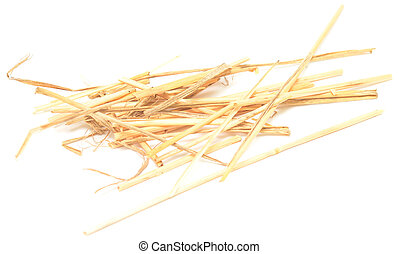 straw isolated on white