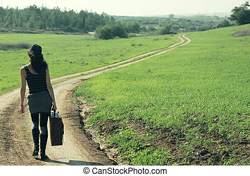Woman standing in the field