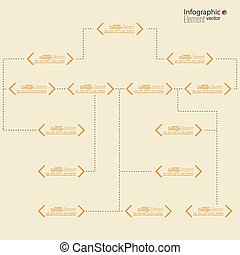 Corporate organization chart template with quotes elements...