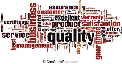 Quality word cloud concept. Vector illustration