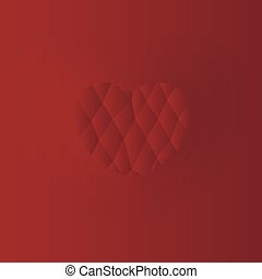 Heart on a red background