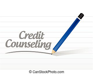 credit counseling message illustration design over a white...
