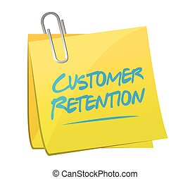 customer retention memo post illustration design over a...