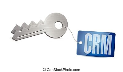 crm key tag illustration design over a white background