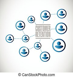 people network customer retention illustration design over a...