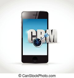 phone crm message illustration