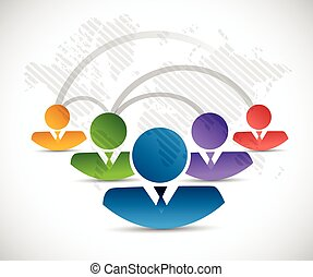 people connection network illustration