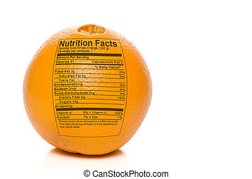Orange Nutrition Facts - Nutrition Facts printed on an...