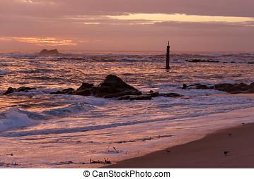 After sunset beach