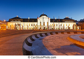 Presidential palace in Slovakia. - Presidential palace in...