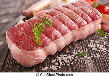 cru, carne,