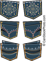 lady fashion jeans back pocket design