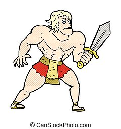 comic cartoon fantasy hero man