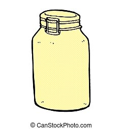 comic cartoon glass jar - retro comic book style cartoon...