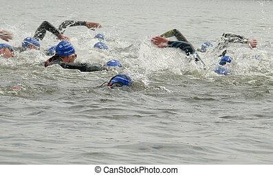 velocidad, nadador