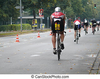 Biking - biking at Triathlon