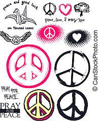 pace, e, buono, fortuna
