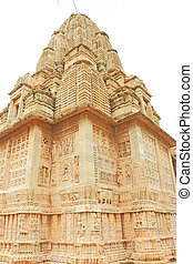 temple in massive Chittorgarh Fort and grounds rajasthan...