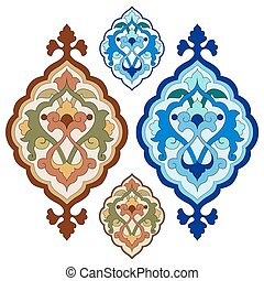 artistic ottoman pattern series twe - Ornament and design...