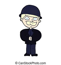 comic cartoon man in bowler hat