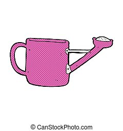 watering can comic cartoon - watering can retro comic book...