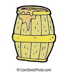 comic cartoon beer barrel - retro comic book style cartoon...