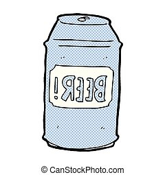 comic cartoon beer can - retro comic book style cartoon beer...