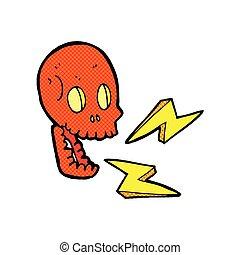 comic cartoon crazy skull