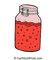 comic cartoon home made preserve - retro comic book style...