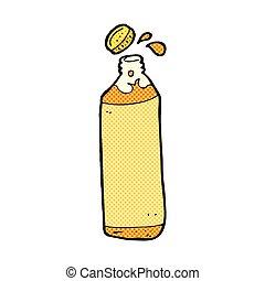 comique, dessin animé, jus, bouteille,