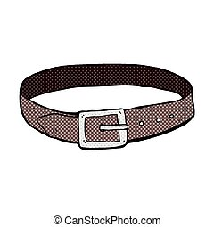 comic cartoon leather belt - retro comic book style cartoon...