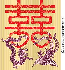 Double Happiness - Double happiness Chinese traditional...