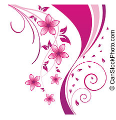 floral background - Floral background for design use Vector...