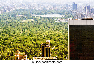 Amazing aerial view of Central Park in New York City