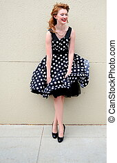 Dress malfunction. - Fashion model having a dress...