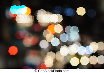 Nice bokeh from Celebration and canival lighting