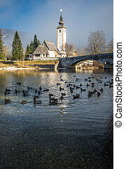 Bohinj - The church dedicated to John the Baptist in Ribcev...