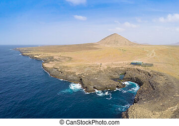 Aerial view of Buracona in sal Island Cape Verde - Cabo...