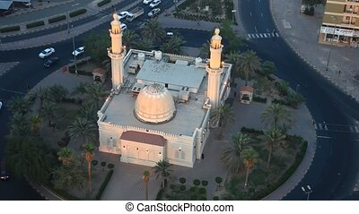 Roundabout Mosque, Kuwait - Aerial view of a mosque in a...