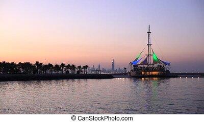 Marina Waves pavilion in Kuwait - Marina Waves pavilion in...