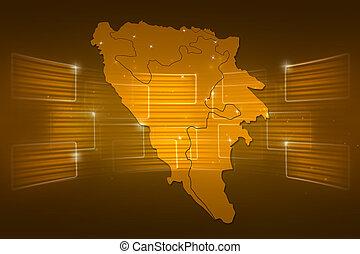 Bosnia and Herzegovina Map World map News Communication gold...