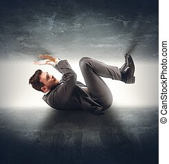 Crushed businessman