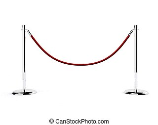 barrier - 3d rendered illustration of a simple barrier