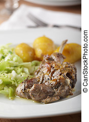 Lamb cutlet with potato